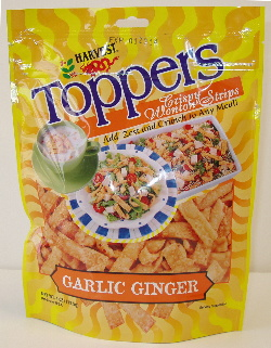 crispy wonton toppers garlic ginger 33188