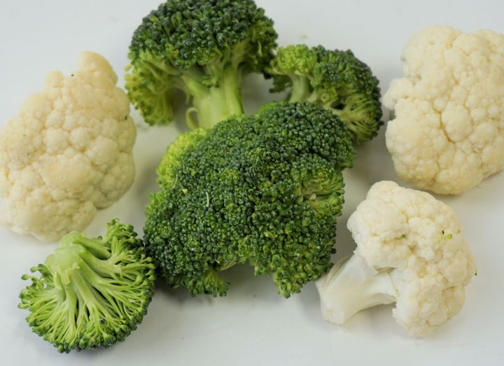 Healthy Vegetables = broccoli and cauliflower